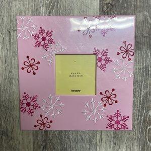 Pier 1 Imports pink snowflake frame, 4x4.